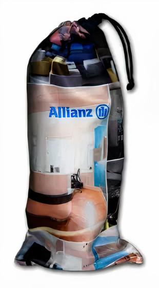 Embalagem de microfibra para  garrafa - Tamanho 18 x 40 - impressão colorida total - Linha Luxo 1819  - Litex Embalagens