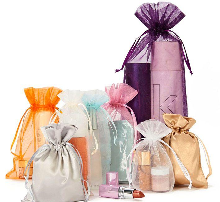 Embalagem de Organza Cristal e Cetim Charmouse Borda Dupla Fabricamos em Qualquer Tamanho á Sua Escolha  - Litex Embalagens