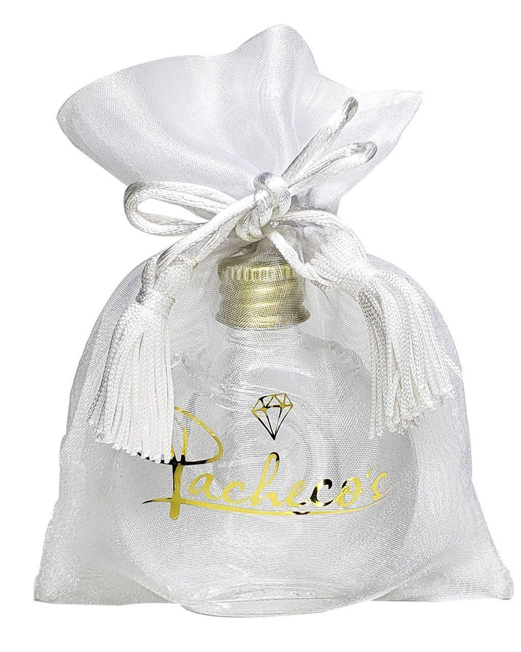 Embalagem de organza personalizada com Hot- Stamping - Fechamento com pingente de seda -   Linha Exclusive 1720  - Litex Embalagens