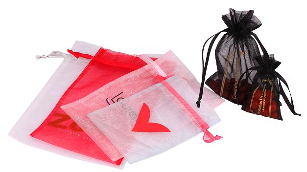 Embalagem de organza com fita de cetim personalizada 15 x 20 - Para outros  tamanhos consulte  - Linha Classic 17591  - Litex Embalagens