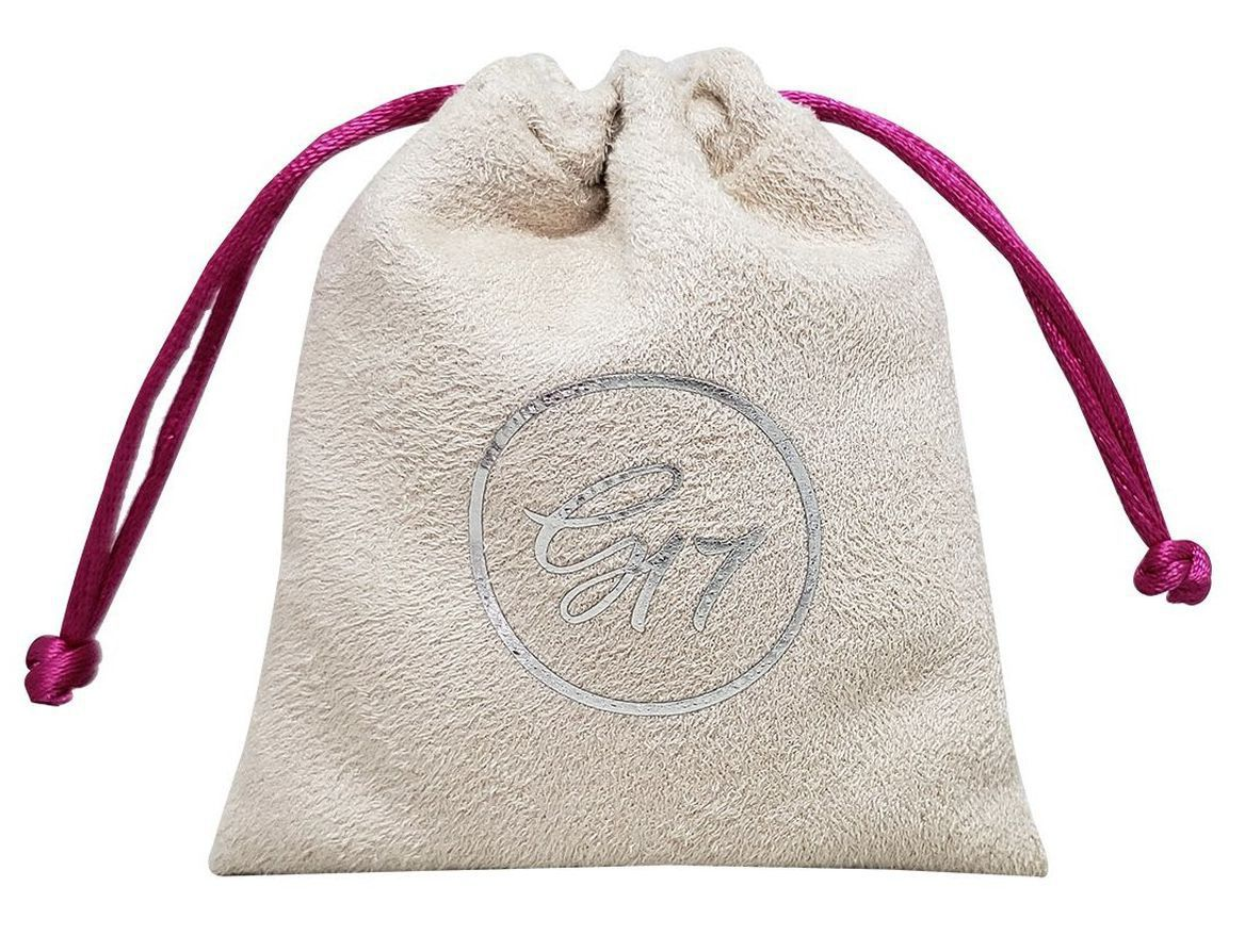 Embalagem de Suede para joias - Tamanho 06 x 08 - Impressão em Hot-Stamping Italiano - Linha Luxo 6374  - Litex Embalagens