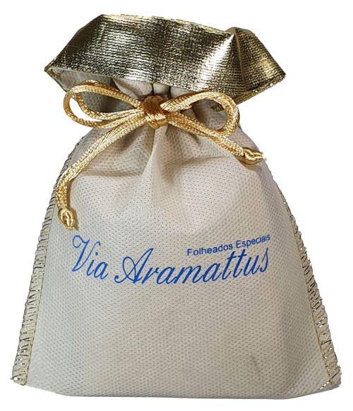 Embalagem de tnt  personalizado para joias - Tamanho 08x12 - Impressão serigrafia - Borda Lamê -  Linha classic 761  - Litex Embalagens