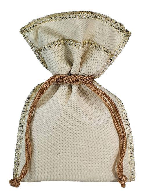 Embalagem de tnt  - Tamanho 10 x 15 - Costura lurex metalizado  - Linha classic 6319  - Litex Embalagens