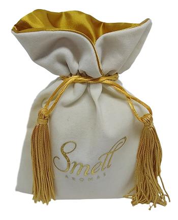 Embalagem de veludo personalizado para joias  08x12 - Impressão Hot-Stamping Italiano - borda gola de cetim - pingente de seda - Linha Premium 1113  - Litex Embalagens