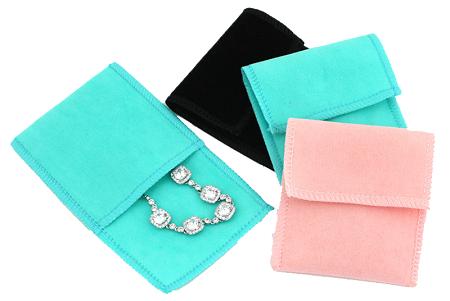 Envelope de veludo para joias  - sem impressão 08x08  - Linha Classic 4569  - Litex Embalagens