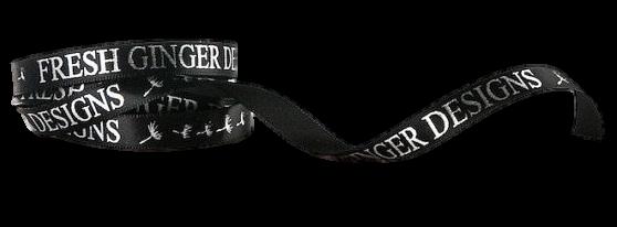 Fita de cetim personalizada 15mm  - Impressão Foil Metalizado ou serigrafia 1 cor - Preço por metro - Linha cristal 1556  - Litex Embalagens