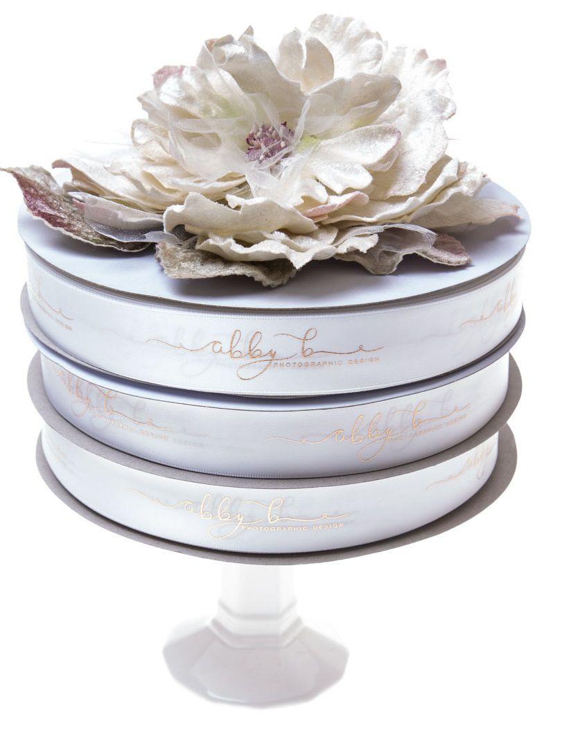 Fita de cetim personalizada 20mm  - Impressão Foil Metalizado ou serigrafia 1 cor - Preço por metro - Linha cristal 4544  - Litex Embalagens
