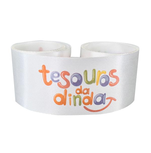 Fita de cetim personalizada 22mm- impressão colorida  - Preço por metro - Linha cristal  72141  - Litex Embalagens