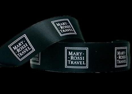 Fita de cetim personalizada 35mm  - Impressão Foil Metalizado ou serigrafia 1 cor - Preço por metro - Linha cristal 1474  - Litex Embalagens