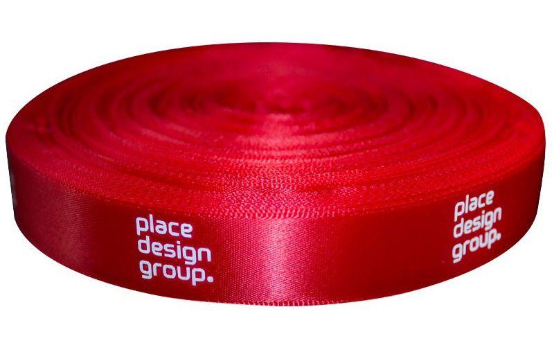 Fita de cetim personalizada 35mm  - Impressão Foil Metalizado ou serigrafia 1 cor - Preço por metro - Linha cristal 4502  - Litex Embalagens