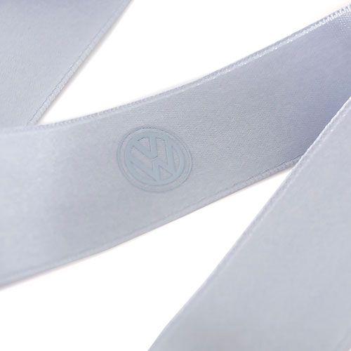 Fita de cetim personalizada 35mm  - Impressão Foil Metalizado ou serigrafia 1 cor - Preço por metro - Linha cristal  4534  - Litex Embalagens