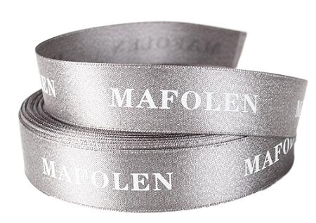 Fita de cetim personalizada 45mm   - Impressão Foil Metalizado ou serigrafia 1 cor - Preço por metro - Linha cristal 1464  - Litex Embalagens