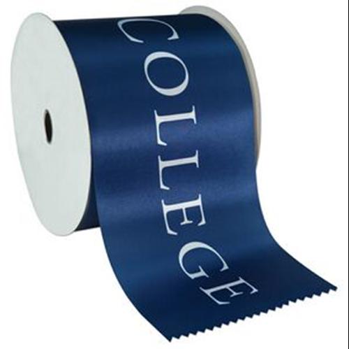 Fita de cetim personalizada 50mm  - Impressão Foil Metalizado ou serigrafia 1 cor - Preço por metro - Linha cristal  4505  - Litex Embalagens
