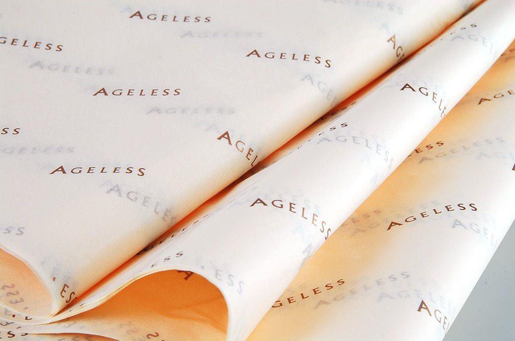 Papel de Seda Personalizado  20g/m - Tamanho 25 x 35 - impressão em 1 cor - Linha paper  7666  - Litex Embalagens