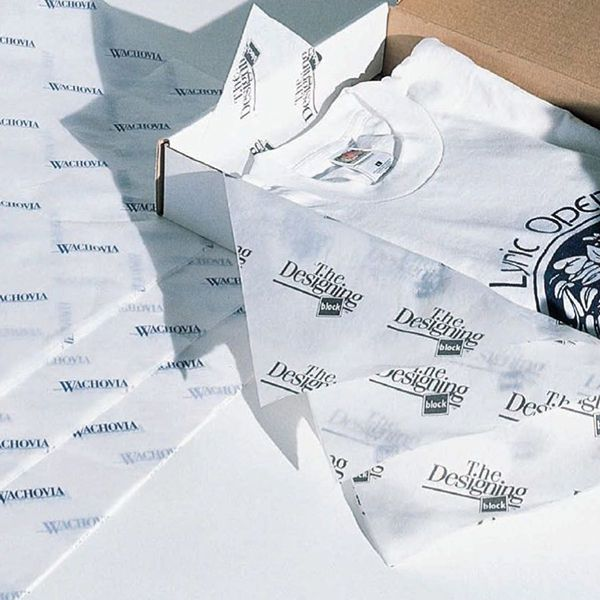 Papel de Seda Personalizado  20g/m - Tamanho 25x35 - impressão em 1 cor - Linha paper 7705  - Litex Embalagens