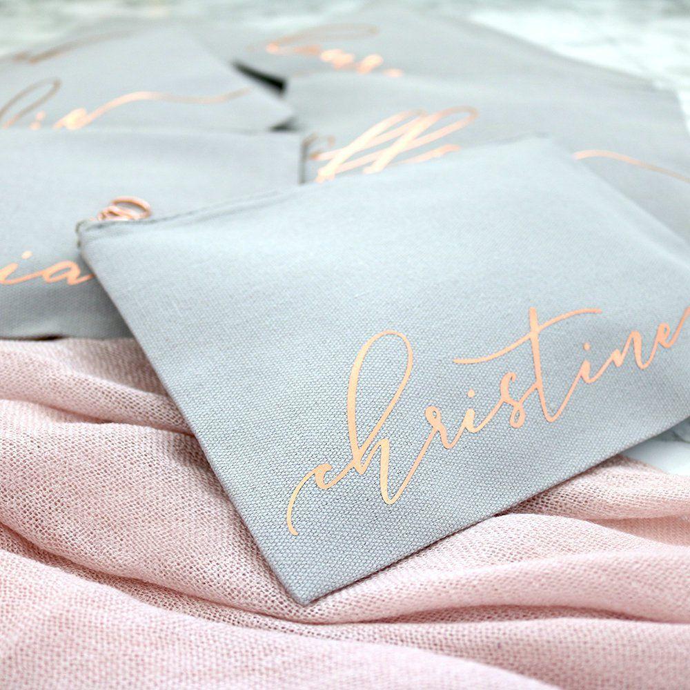 Necessaire de Cetim dublado - Impressão Hot-Stamping Italiano - ziper de metal - Tamanho 15 x 25 -  Linha Gift  7317  - Litex Embalagens