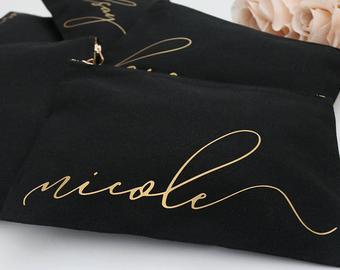 Necessaire de nylon 600 - Impressão Hot-Stamping Italiano - ziper de poliéster - Tamanho 21 x 32 -  Linha Gift  2269  - Litex Embalagens