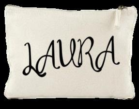 Necessaire de lonita personalização em serigrafia - ziper de poliéster - Tamanho 10 x 12  -  Linha Gift  7374  - Litex Embalagens
