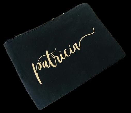 Necessaire Algodão Americano 10 x 12 - impressão em serigrafia - ziper de poliéster -  Linha Gift  2302  - Litex Embalagens