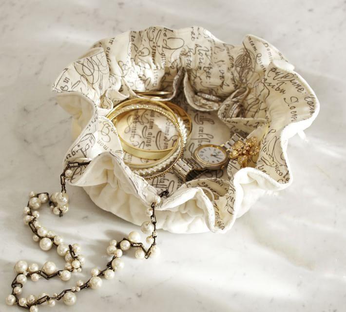 Organizador de bijoux com divisórias - impressão colorida-  Linha Gift  7256  - Litex Embalagens