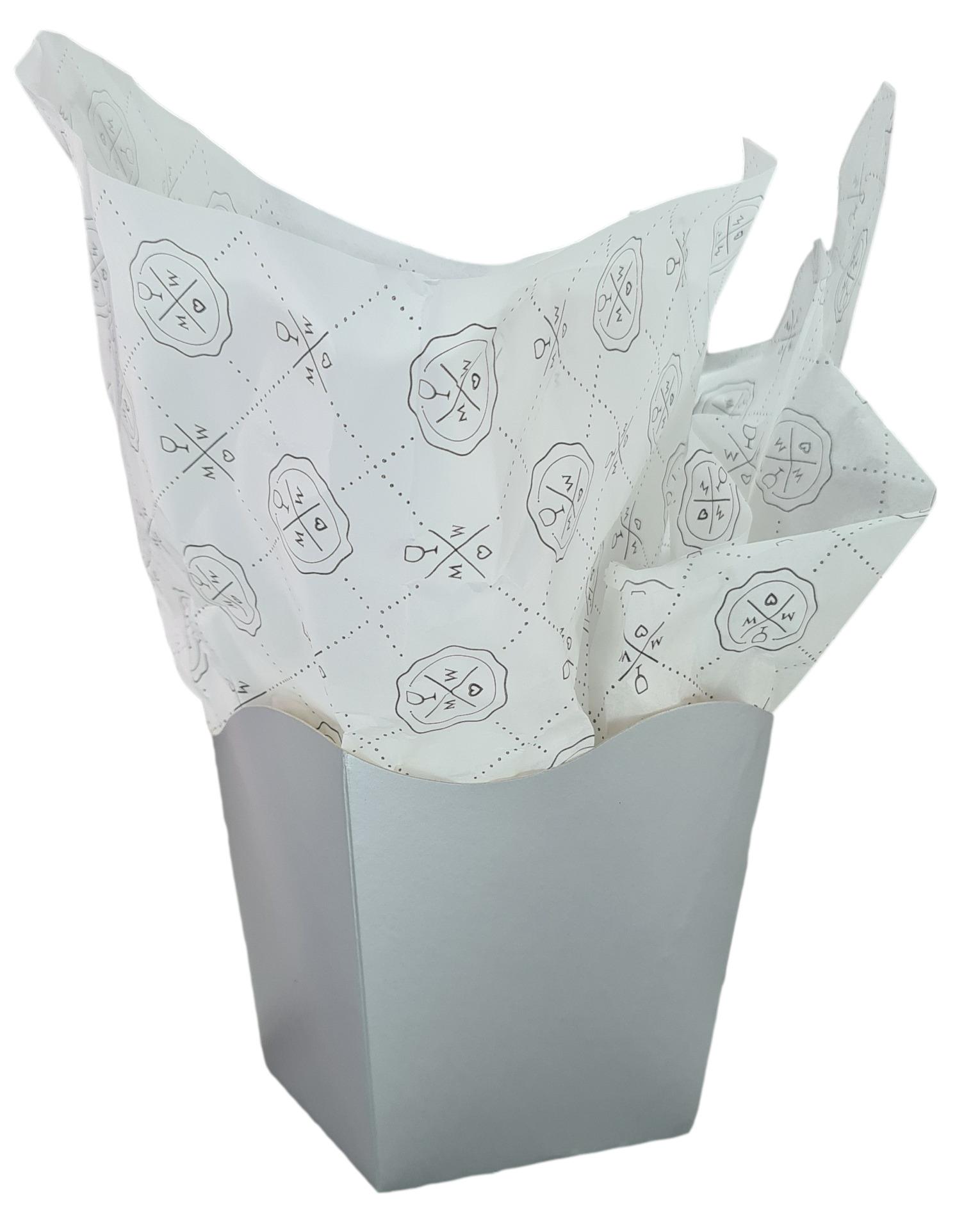 Papel de Seda Personalizado 20g/m - Tamanho 50 x 70 - Linha paper  7708  - Litex Embalagens