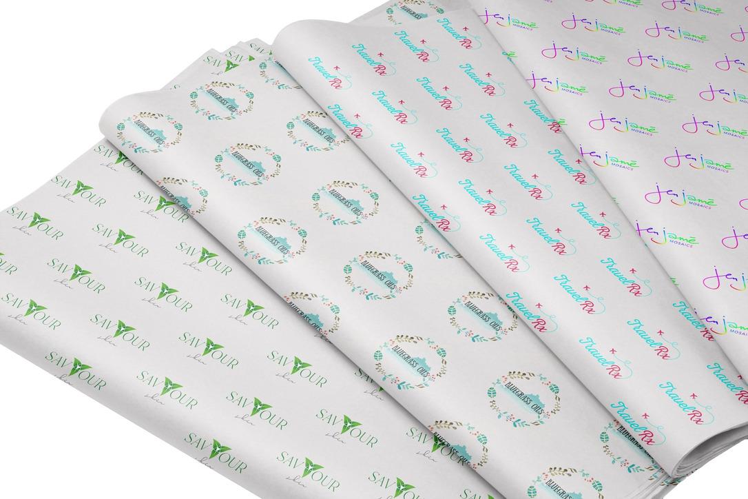 Papel de Seda Personalizado 20g/m - Tamanho 50 x 70 - Linha paper 2043  - Litex Embalagens