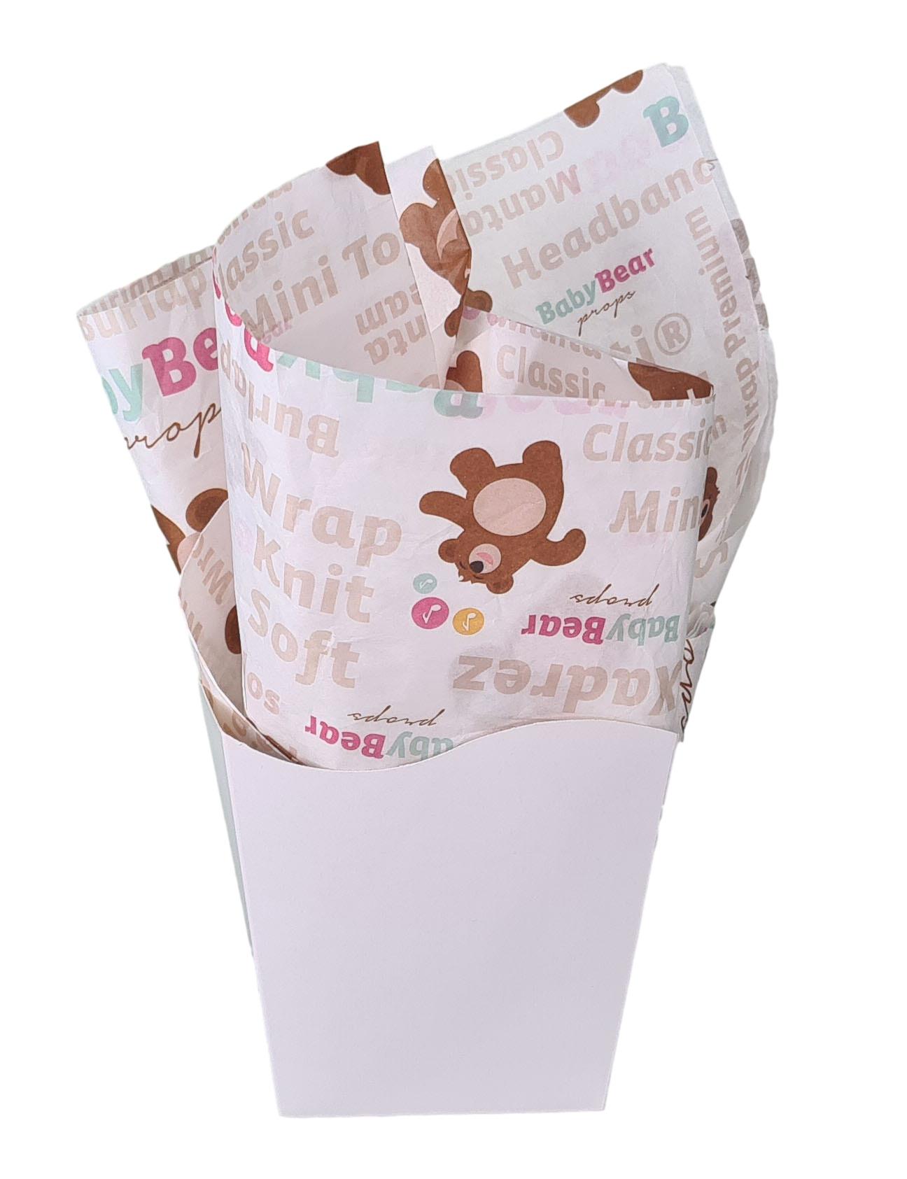 Papel de Seda Personalizado 20g/m - Tamanho 50 x 70 - Linha paper 2046  - Litex Embalagens