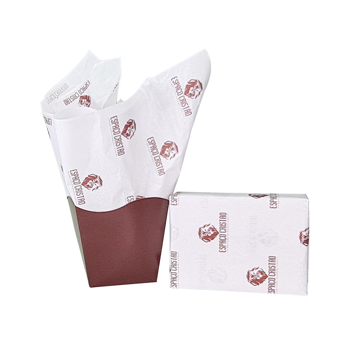Papel de Seda Personalizado 20g/m - Tamanho 50 x 70 - Linha paper 394  - Litex Embalagens