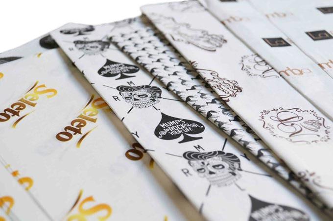 Papel de Seda Personalizado 20g/m - Tamanho 50 x 70 - Linha paper 477  - Litex Embalagens