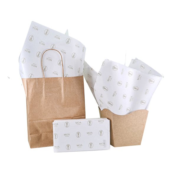 Papel de Seda Personalizado 20g/m - Tamanho 50 x 70 - Linha paper 482  - Litex Embalagens