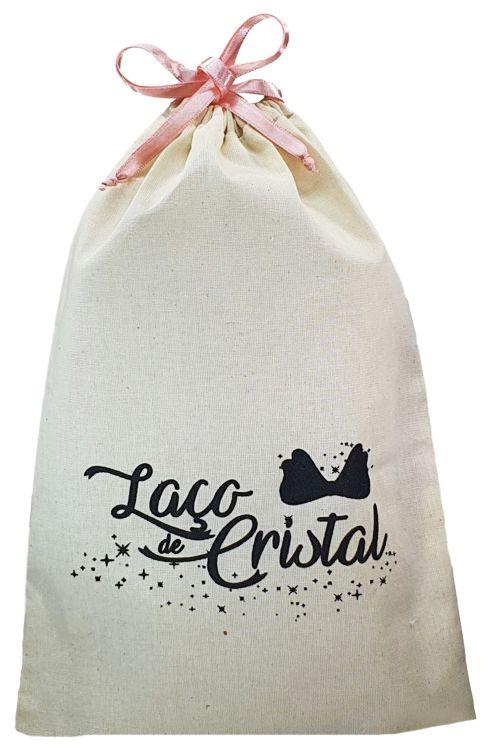 Saco de algodão personalizado 12 x 18 -  Linha Classic 713  - Litex Embalagens