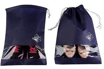 Saco de tnt para sapato 25x35 - com visor plastico personalizado - Linha Classic 1824  - Litex Embalagens