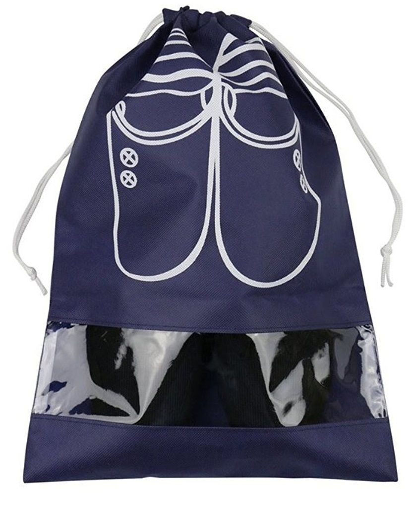 Saco de tnt para sapato 25x35 - com visor plastico personalizado - Linha Classic 1852  - Litex Embalagens
