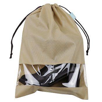 Saco de tnt para sapato - Tamanho 40x60 - com visor plastico personalizado - Linha classic 1868  - Litex Embalagens