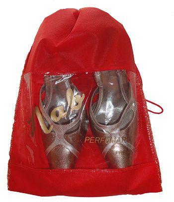 Saco organizados para sapato de tnt - Tamanho 25x35 - personalizado com visor plastico - Linha classic 1856  - Litex Embalagens