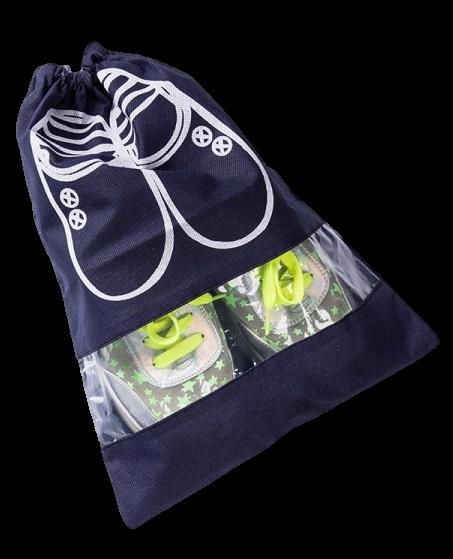 Saco organizador para sapato de tnt  30x40 - personalizado com visor plastico - Linha Classic  1427  - Litex Embalagens