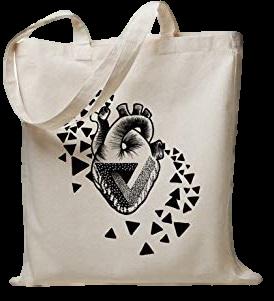 Sacola de algodão 35x40 - impressão em serigrafia -  Linha Ecobag 2308  - Litex Embalagens