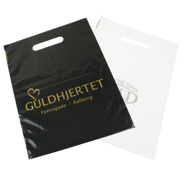 Kit com 3 Sacolas plástica boca vazada - Baixa densidade 0,12 - Tamanho 16X22 - Impressão em serigrafia 1 cor - Linha Cristal  1529  - Litex Embalagens