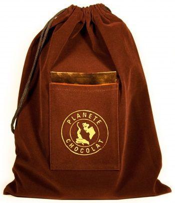 Saquinho com bolso de Camurça 30x40 - impressão em serigrafia - Bolso Frontal - Linha Luxo 1097  - Litex Embalagens