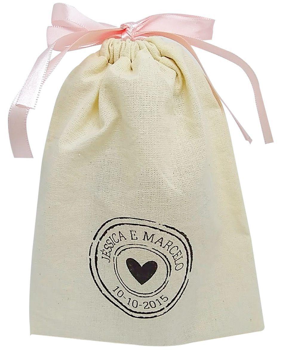 Saquinho de algodão para roupa  - personalizado em serigrafia - 20x30 - Linha Classic 7107  - Litex Embalagens