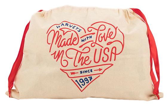 Saquinho de algodão personalizado para bolsa 35x35 - impressão em serigrafia 2 cores - Linha Classic 1395  - Litex Embalagens