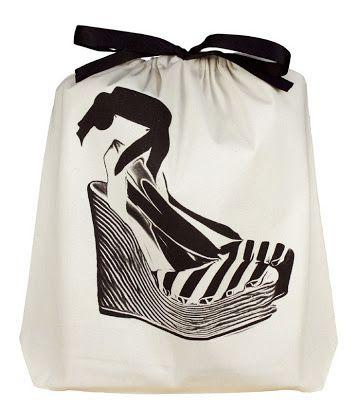Saquinho de algodão personalizado para sapato - 30 x 40 - impressão em serigrafia - Linha Classic 7068  - Litex Embalagens