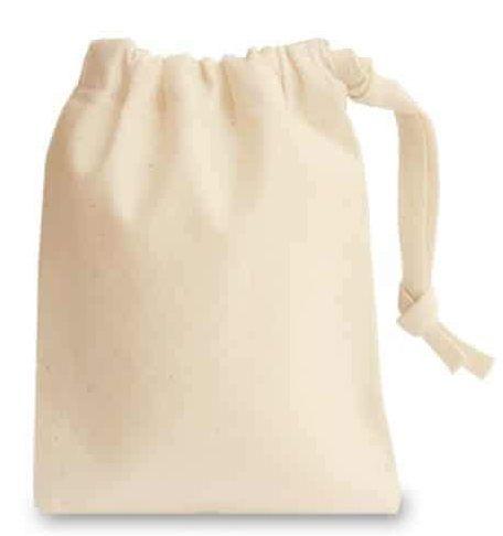 Saquinho de Algodão Cru Borda Simples 10x15 Sem Personalização Fechamento com Fita de Algodão  - Litex Embalagens