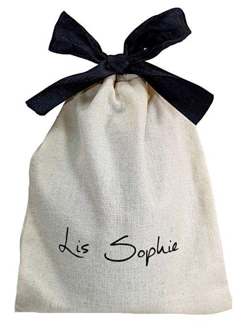 Saquinho de algodão  para anel  04x06 - impressão em serigrafia - Linha Classic 4158  - Litex Embalagens