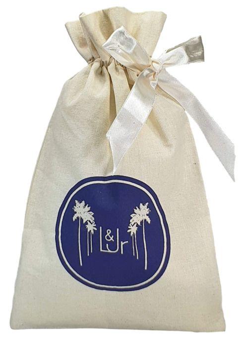 Saquinho de algodão para brindes - 25 x 35 - - impressão da logomarca em  serigrafia - Linha Classic 7465  - Litex Embalagens