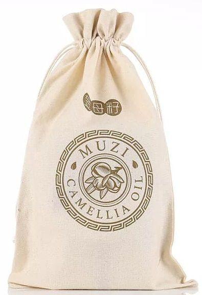 Saquinho de algodão para brindes 25x35  - impressão logomarca em serigrafia   - Linha Classic 4160  - Litex Embalagens