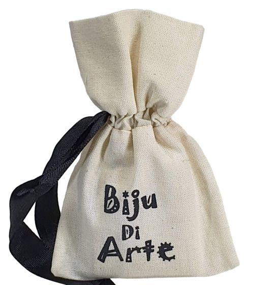 Saquinho de algodão  para lembrancinhas - 10 x 15 - personalizado em serigrafia 1 cor - Linha Classic 7105  - Litex Embalagens