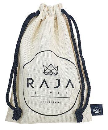 Saquinho de algodão personalizado 06 x 08  -  Etiqueta lateral personalizada - Linha Classic 4069  - Litex Embalagens