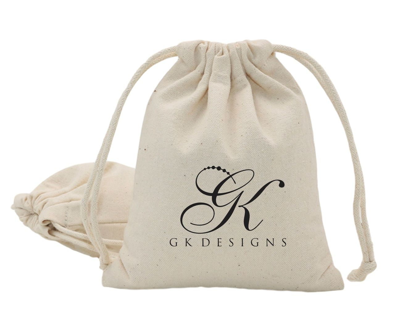 Saquinho de algodão  para bijuterias - 15x20 - personalizado em serigrafia - Linha Classic 1373  - Litex Embalagens