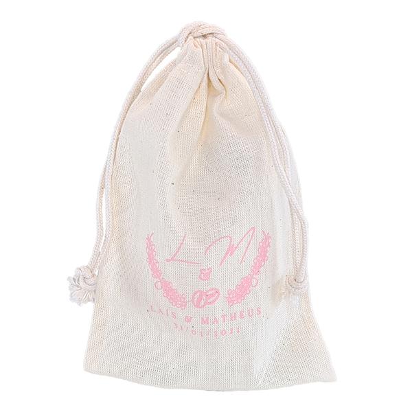 Saquinho de algodão personalizado  15 x 30 - personalizado em serigrafia 1 cor - Linha Classic 7110  - Litex Embalagens